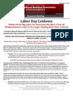 Labor Day Letdown