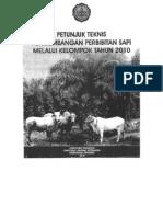 2010 Petunjuk Teknis Pengembangan Perbibitan Sapi Melalui Kelompok 2010