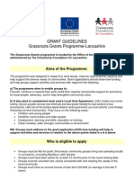 Grassroots Grants Application Form