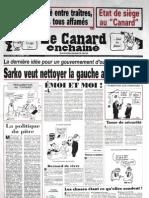 LE CANARD ENCHAINE 16/05/2007