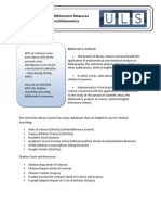 Citation Searching and Bibliometric Measures Handout