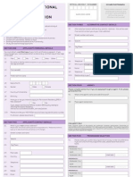Intl Student Application Form