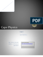 Cape Physics Unit 1st Edition