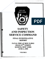 FDNY report on fatal fire, June 4, 1999
