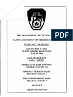 FDNY report on fatal fire, June 17, 2001
