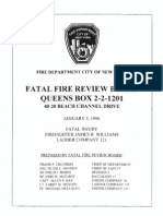 FDNY report on fatal fire, January 5, 1996