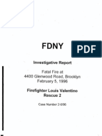 FDNY report on fatal fire, February 5, 1996