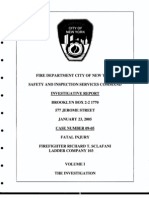 FDNY report on fatal fire, January 23, 2005