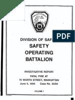 FDNY report on fatal fire, July 20, 1994