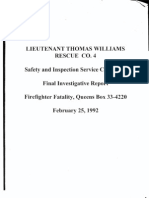 FDNY report on fatal fire, February 25, 1992