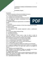 Análisis del Acta de Asamblea Ext.de CAZTOR  07 02 2011 Por Dr. Franciasco Arreaza