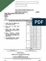 Trial Mate Spm Terengganu 2011 Paper 2