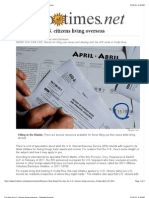 Tax Tips for U.S. Citizens Living Overseas