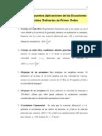 Ejercicios Propuestos Aplicaciones de Las Ecuaciones Diferenciales Or Din Arias de Primer Orden