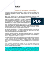 EconomyWatch_Sept 30, 2008_India Economy-Effects of the US Financial Crisis in India