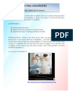 Lesson Plan Eating Disorders