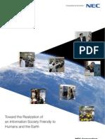 Reporte d sustentabilidad de NEC2011