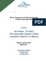 2011 Lois Hole Lecture