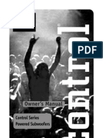 Jbl Control Sub 10 Manual