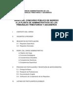 Bases Concurso Ingreso Administativos TTA[1]