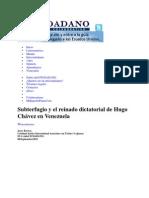 Subterfugio y el reinado dictatorial de Hugo Chávez en Venezuela