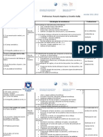 Planificacion de Contenidos de Lengua. 4to