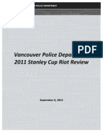 Vancouver Police internal riot review