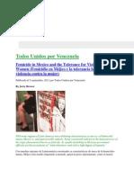 Femicidio en Méjico y la tolerancia hacia la violencia contra la mujer