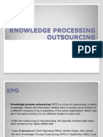 Knowledge Processing Outsourcing