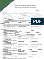 EXAMEN RECUPERACION  CIENCIAS (QUIMICAIII  y español  1°