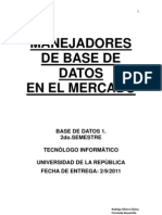 Manejadores de Base de Datos
