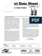 Wind N Go 2 way Radio Product Data Sheet