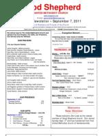 Newsletter Sept 7