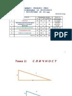 Procesno planiranje po matematika za osmo odd 2012