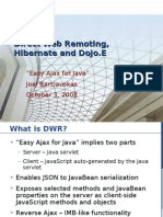 DWR, Hibernate and Dojo.E - A Tutorial