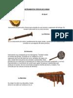 Instrumentos Tipicos de Coban