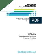 Especializacion Ceramica Artesanal y Artistica