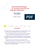 Private-Label Residential Mortgage Securitization Recording Innovations and Banckruptcy Remoteness Nancy Wallace_MERS