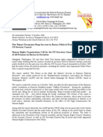 AAPP & USCB Joint Press Release, Oct 6, 2008
