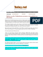 SindhToday_Sept 18, 2008_Markets Up After am Assurance, Strong Global Cues