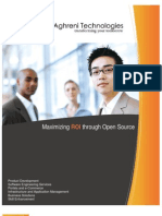 Aghreni Technologies, offshore provider of open source software solutions - Corporate Brochure