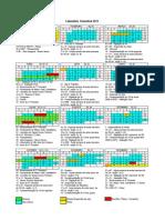 Calendário Trimestral ETEP 2011