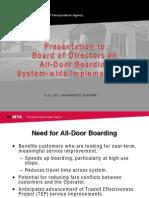SFMTA All Door Board