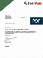 FerrAus Target Statement (Takeover by Atlas)
