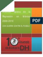 Saldos de la Represión en México 2009-10