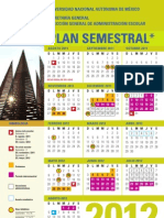 Calendario Semestral UNAM 2012