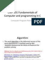 CMP 101 Set 12 Algorithm and Flowcharts