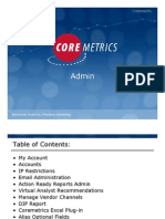 Core Metrics Retail User Guide - Admin