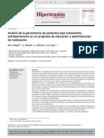 Análisis de la persistencia de pacientes bajo tratamiento antihipertensivo