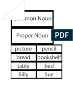 La 31 Common and Proper Nouns
